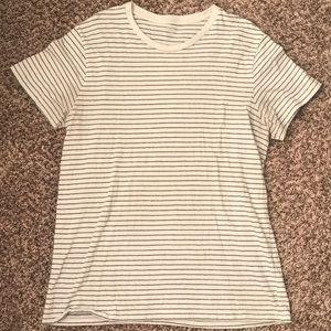 Men's Old Navy white and black striped shirt